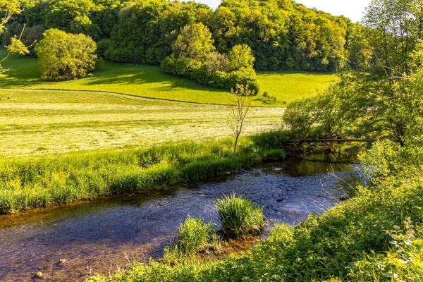 Lage am Fluss Brettach