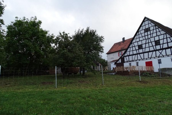 1000m² Grundstück inmitten alter Bäume mit 1,50 m hohem Schafdrahtzaun eingezäunt!