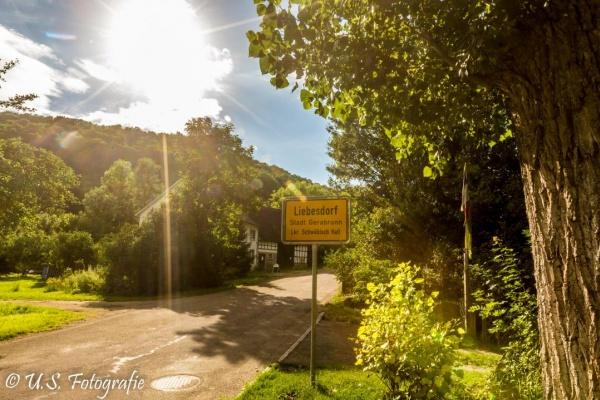 Der Ort Liebesdorf besteht aus 6 bewohnten Häusern
