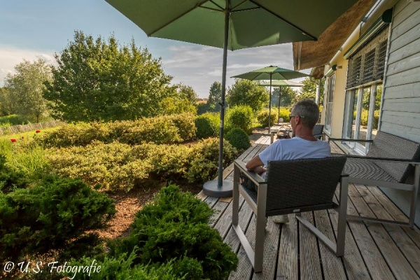 Urlaubsidylle auf der großen Terrasse