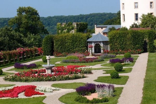 Hoch auf dem Bergsporn gelegen - Schloss Langenburg