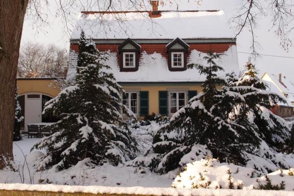 Die Alte Schule im Winterkleid