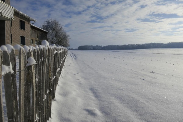Winterlandschaft vor der Haustür