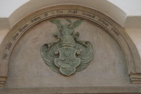 Das Wappen des Spitals